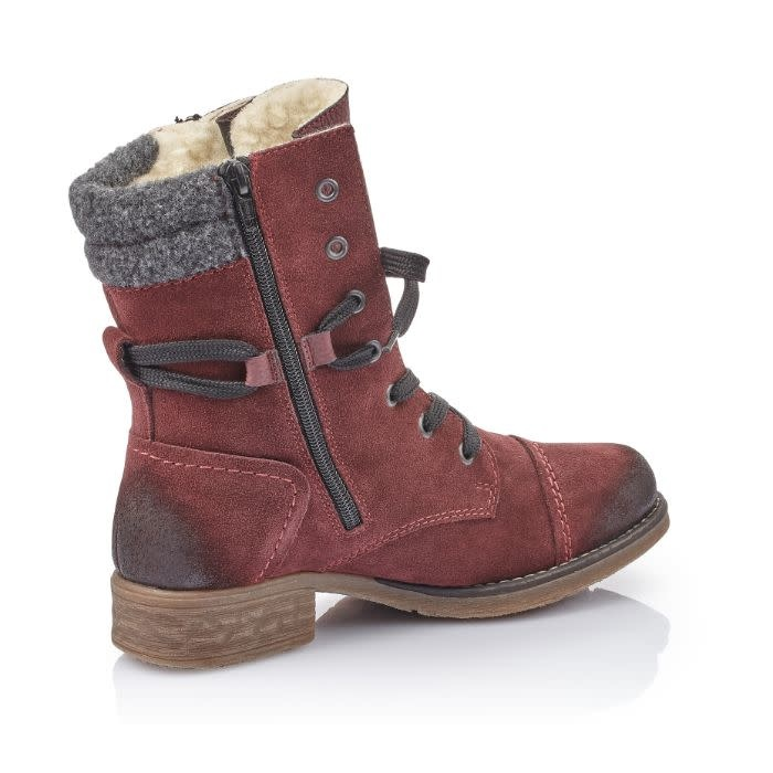RIEKER RIEKER 79633-36 Lace-Up Lambswool Lined Boot