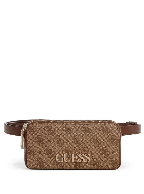 "GUESS HANDBAGS GUESS ""SKYE"" Brown Belt Bag"