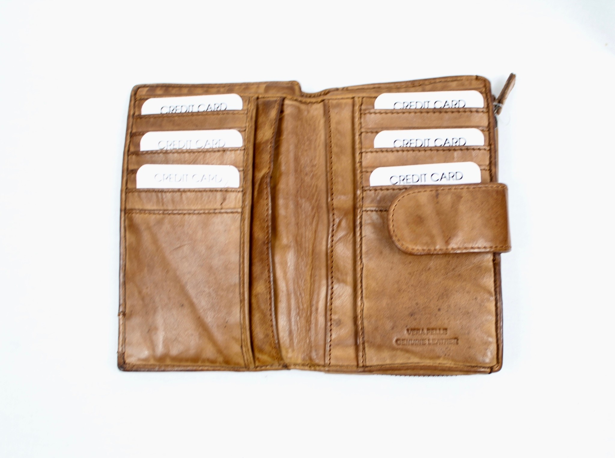 THE TREND THE TREND 4208446 Tan Leather Wallet