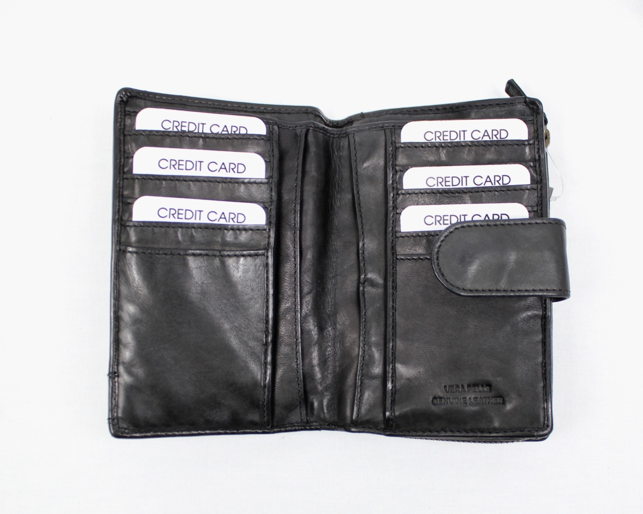 THE TREND THE TREND 4208446 Black Leather Wallet