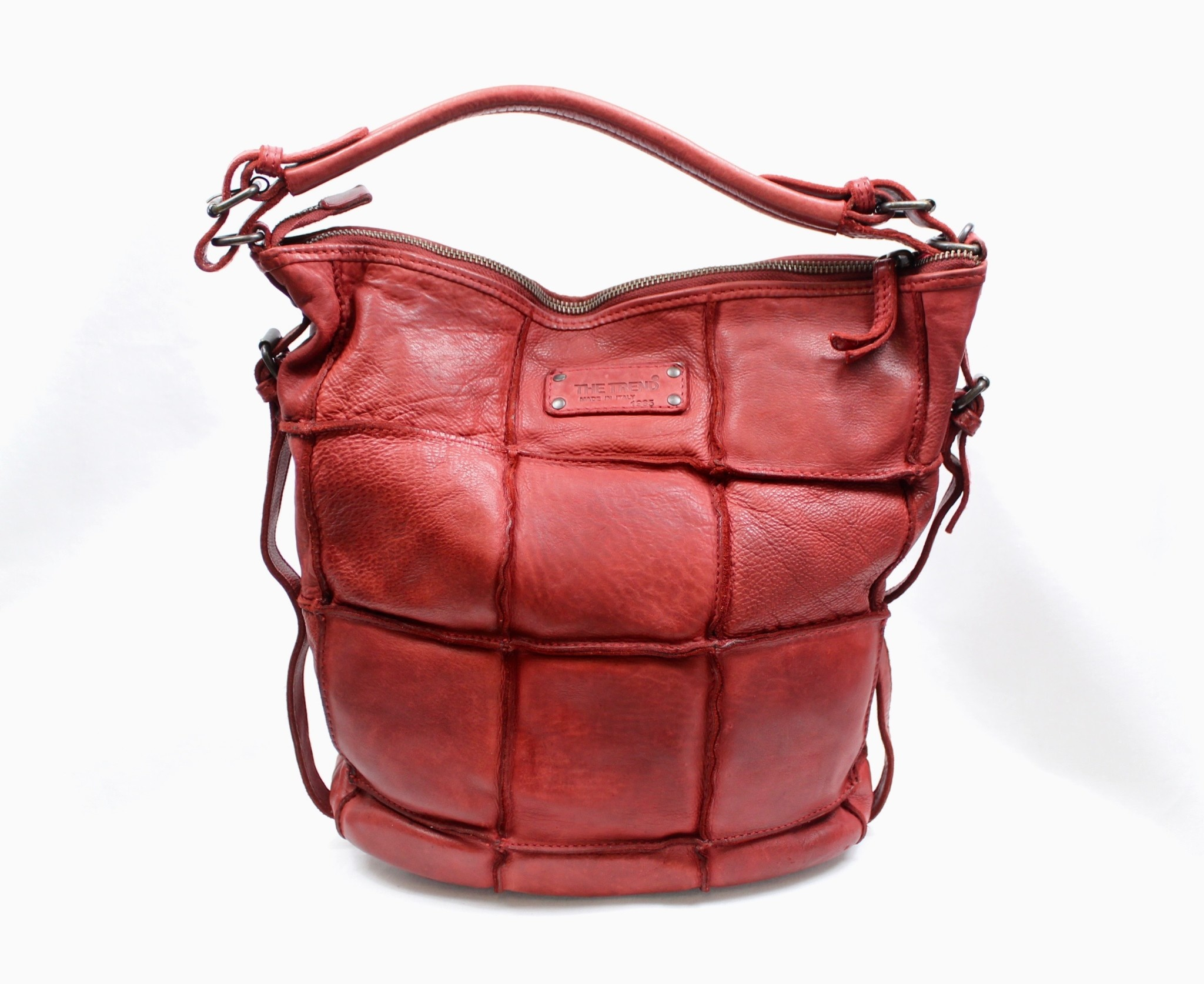 THE TREND THE TREND 24394 Red Leather Hobo Handbag