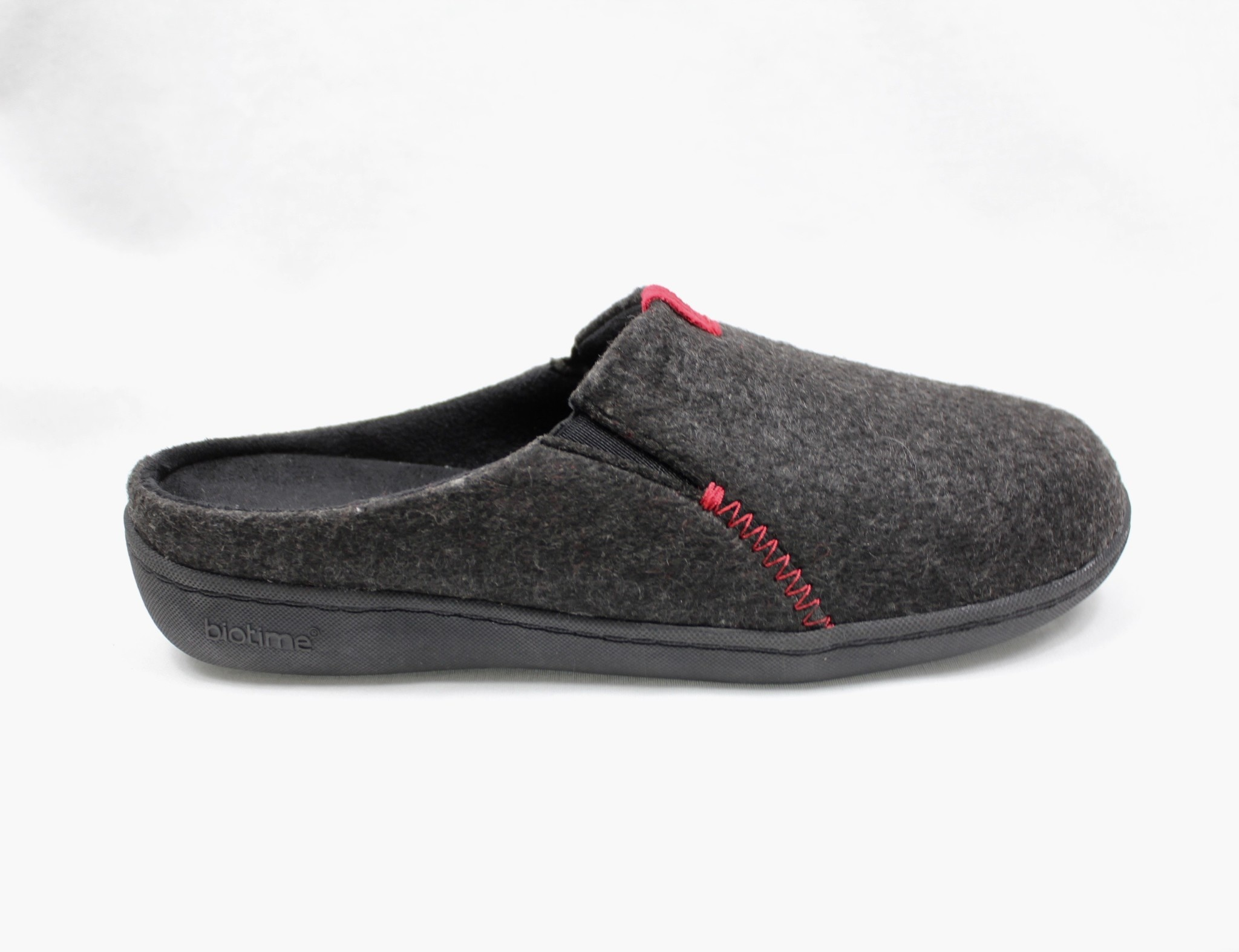 "BIOTIME BIOTIME ""EMMA"" Grey/Black Slipper"