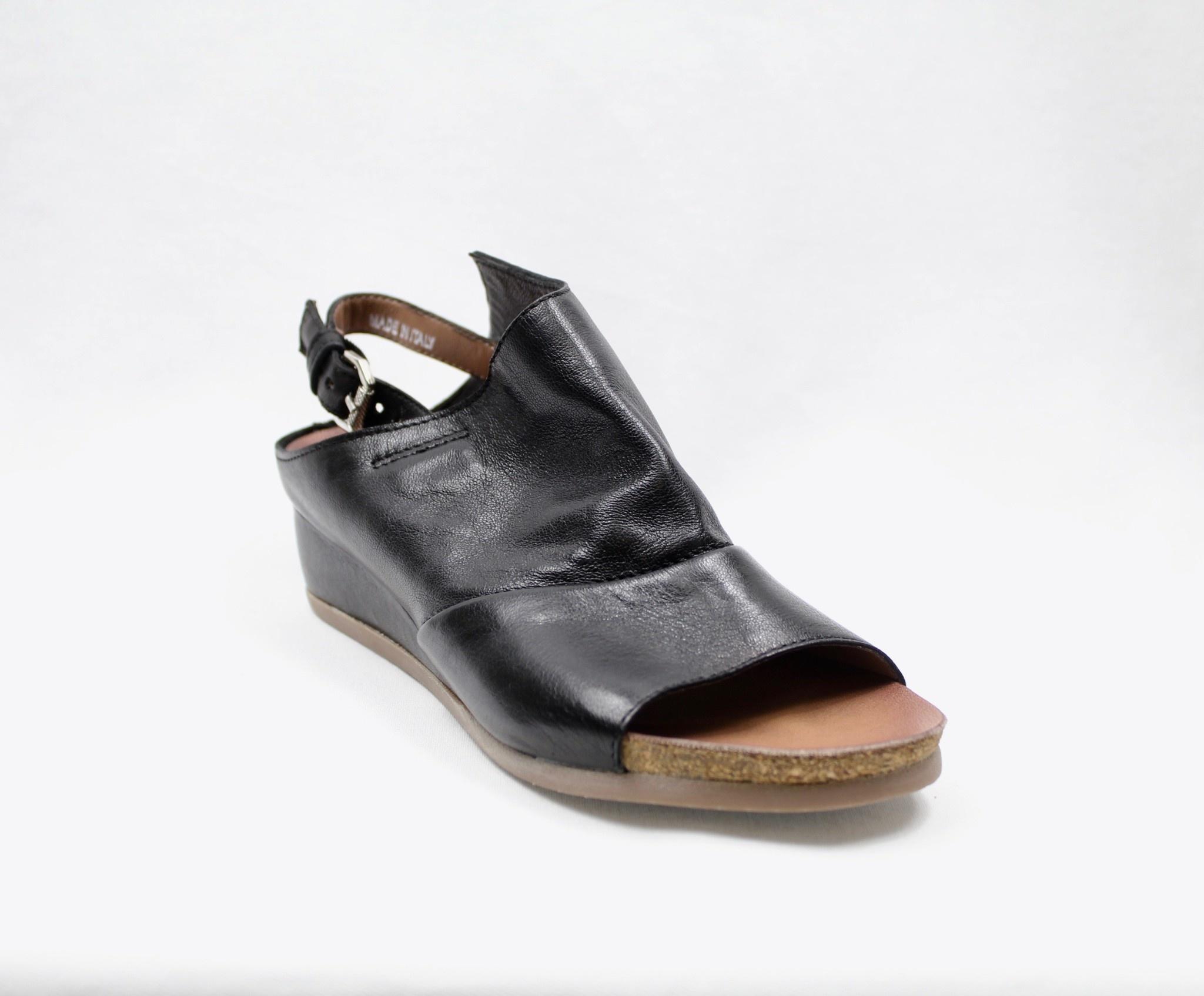 "MJUS MJUS 874009 ""Nero"" (Black) Wedge Sandal"