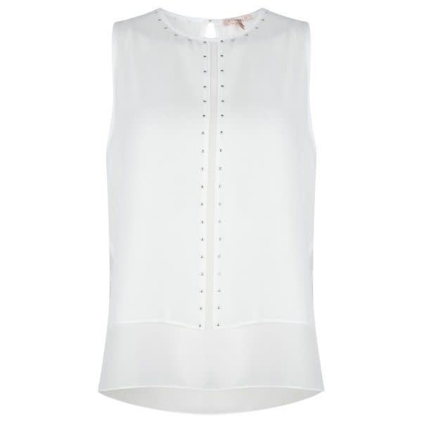 ESQUALO ESQUALO 31012 Sleeveless Stud Blouse