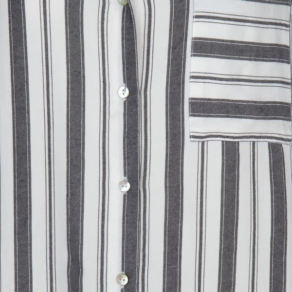 ESQUALO ESQUALO 15030 Lurex Striped Blouse