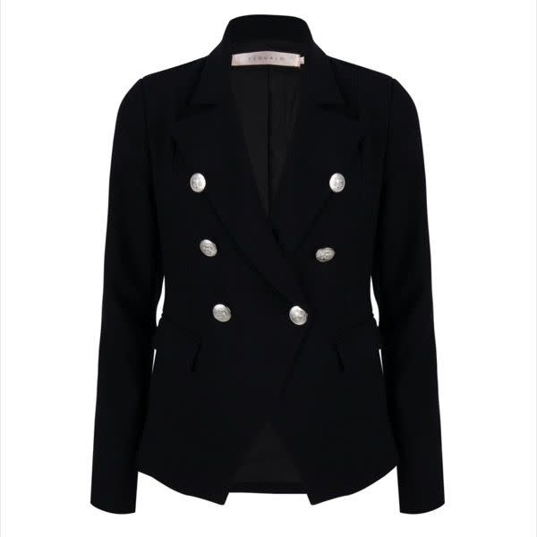 ESQUALO ESQUALO 17015 Black Fancy Button Blazer