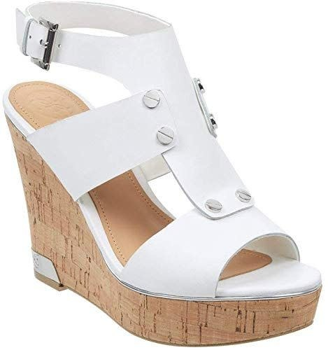"GUESS FOOTWEAR GUESS ""HALLA"" Wedge Sandal"