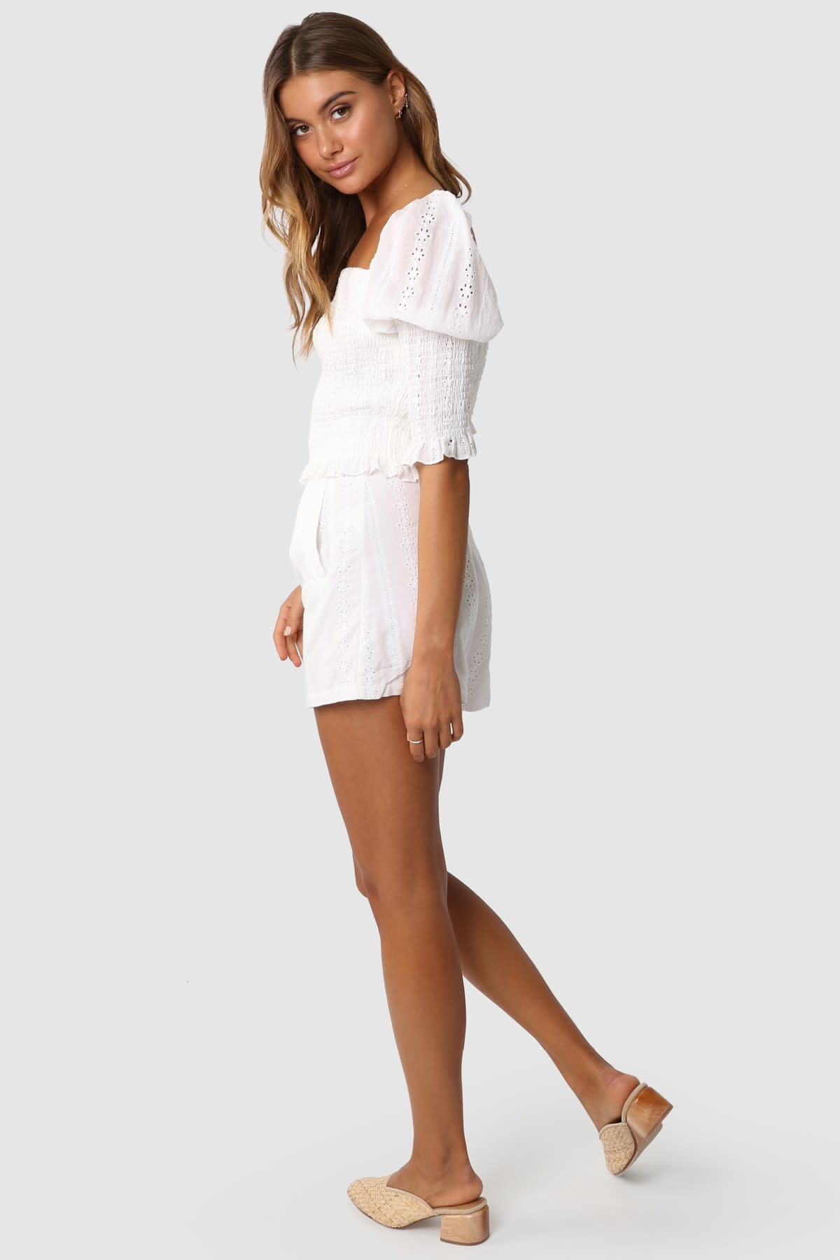 "LOST IN LUNAR LOST IN LUNAR L0193 ""BRIDIE"" Eyelet Lace Top"
