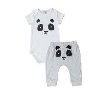 Gray Panda Onesie