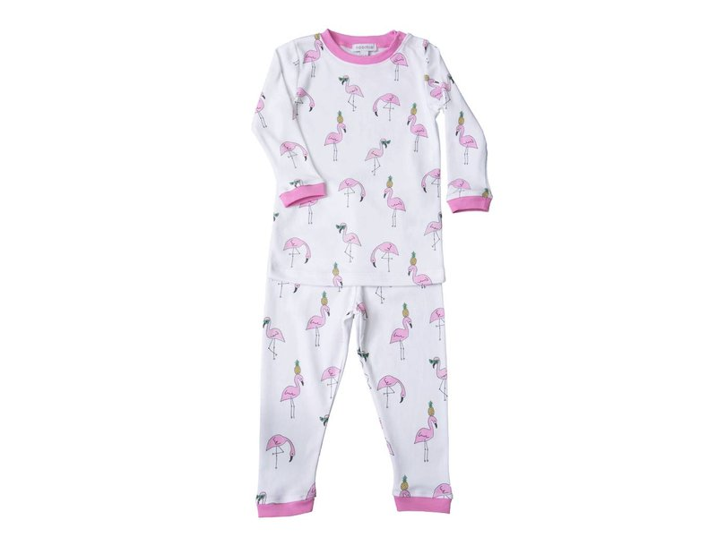 Baby Noomie Two Piece PJ Flamingos