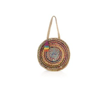 Large Mirabel Round Bag Multicolored