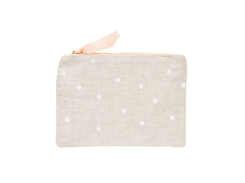 Sugar Paper Flax Dot Pouch