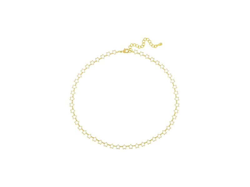 five and two Deja Necklace in Gold