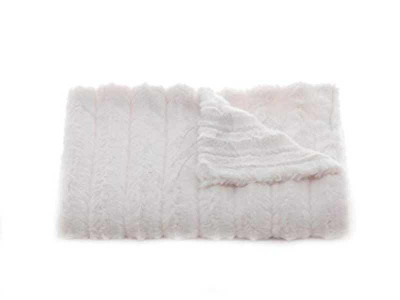Tourance Linens Channel Ivory Baby Blanket