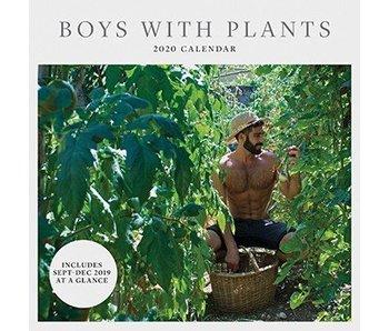 Boys With Plants Wall Calendar