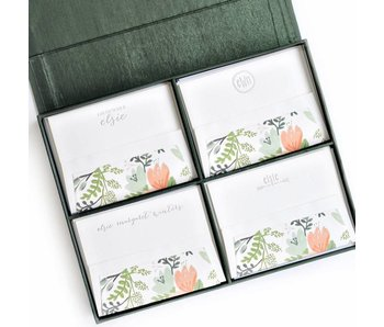 Grand Pine Silk Stationery Box