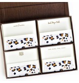 Haute Papier Grand Brown Silk Stationery Box