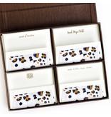 Haute Papier Grand Brown Silk Stationery Box