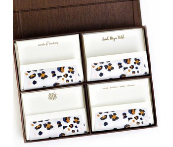 Grand Brown Silk Stationery Box