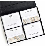 Haute Papier Grand Black Silk Stationery Box