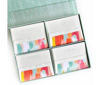 Grand Seafoam Silk Stationery Box