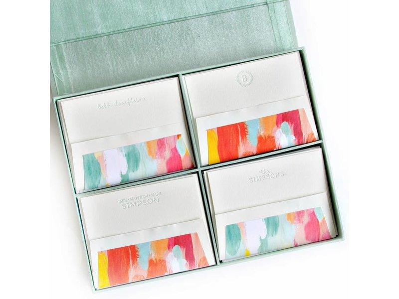 Haute Papier Grand Seafoam Silk Stationery Box