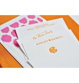 Haute Papier Grand Orange Silk Stationery Box