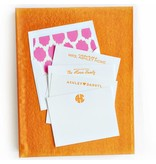 Haute Papier Grand Orange Silk Stationery Box