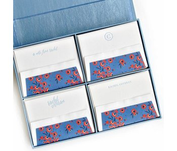 Grand Light Blue Stationery Box