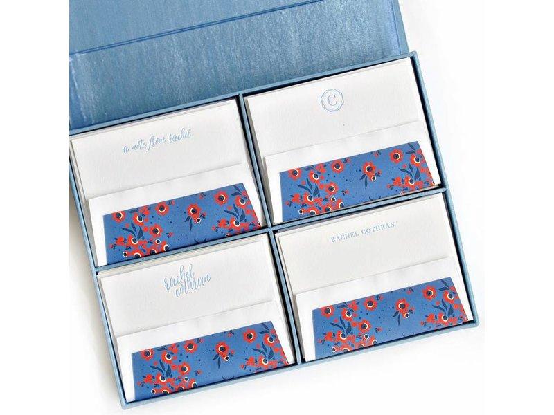 Haute Papier Grand Light Blue Stationery Box