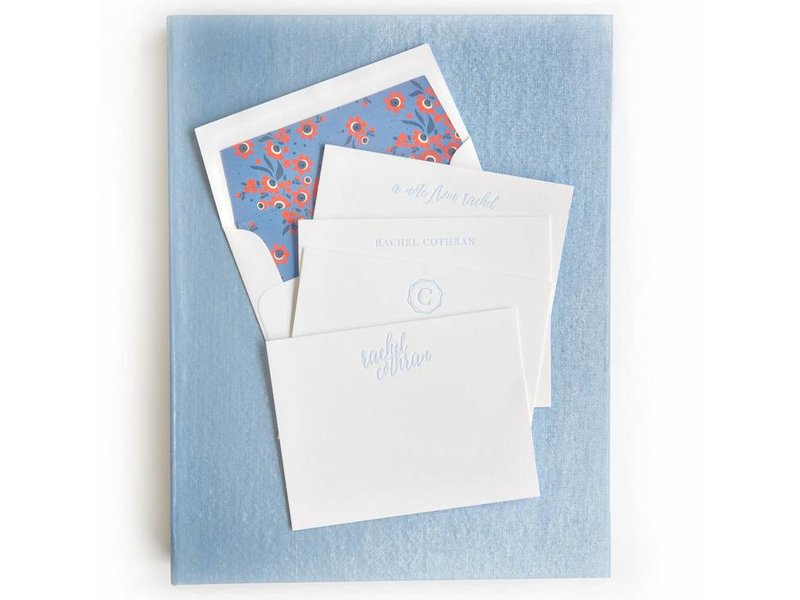 Haute Papier Grand Light Blue Stationery Box
