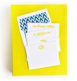 Haute Papier Grand Yellow Stationery Box