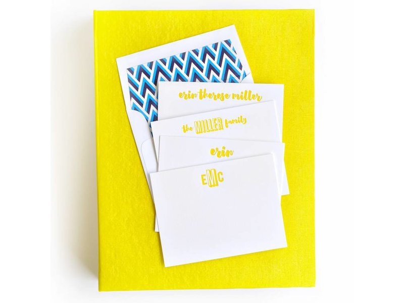 Haute Papier Grand Yellow Stationery Box