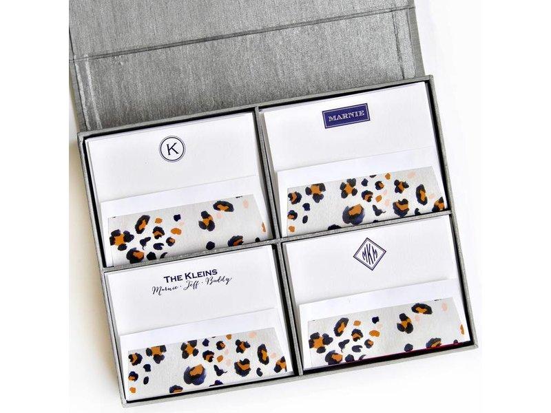 Haute Papier Grand Silver Stationery Box