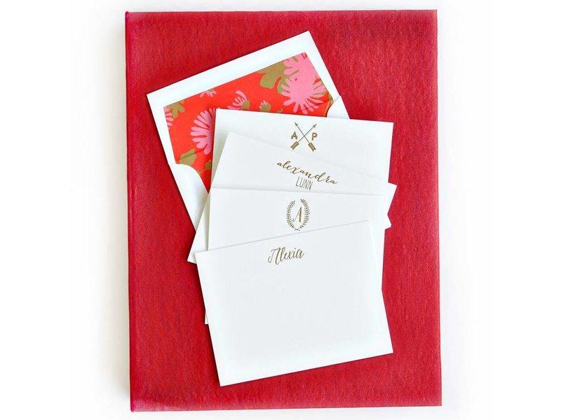 Haute Papier Grand Red Stationery Box