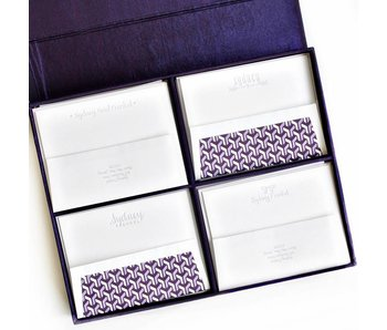 Grand Purple Stationery Box