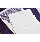 Haute Papier Grand Purple Stationery Box