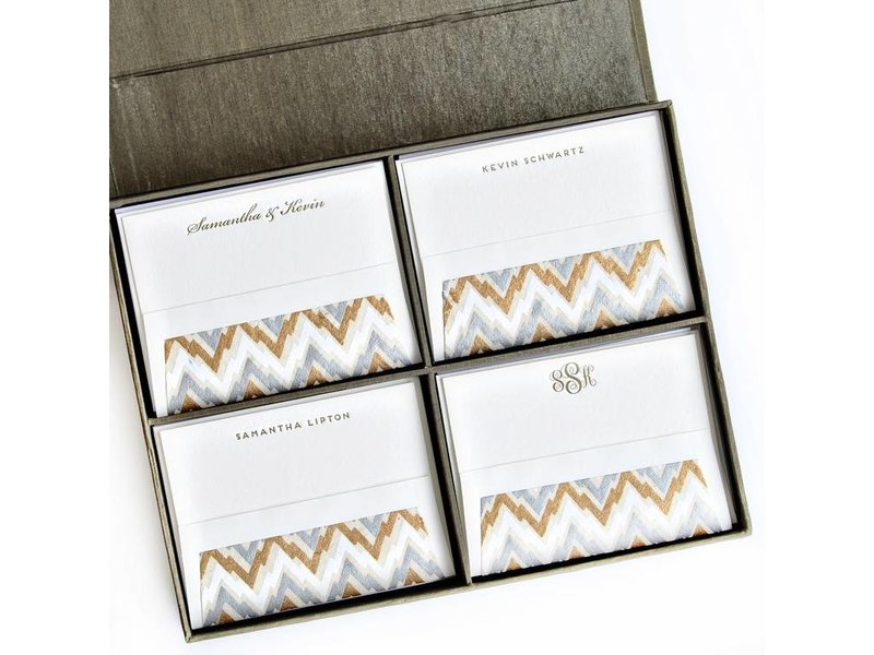 Haute Papier Grand Olive Stationery Box