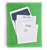 Haute Papier Grand Green Stationery Box