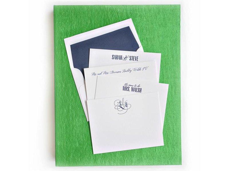 Haute Papier Grand Green Stationery Box