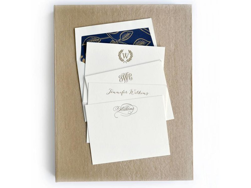 Haute Papier Grand Champagne Stationery Box