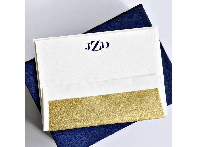 Haute Papier Petite Navy Stationery Box