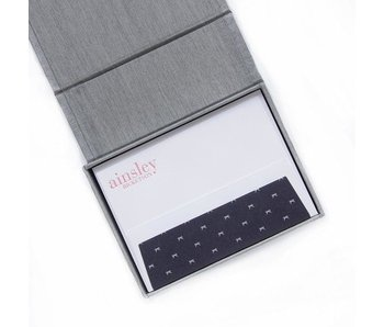 Petite Silver Stationery Box - P12