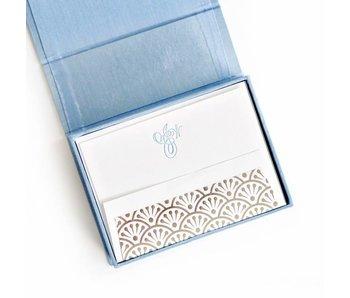 Petite Light Blue Stationery Box