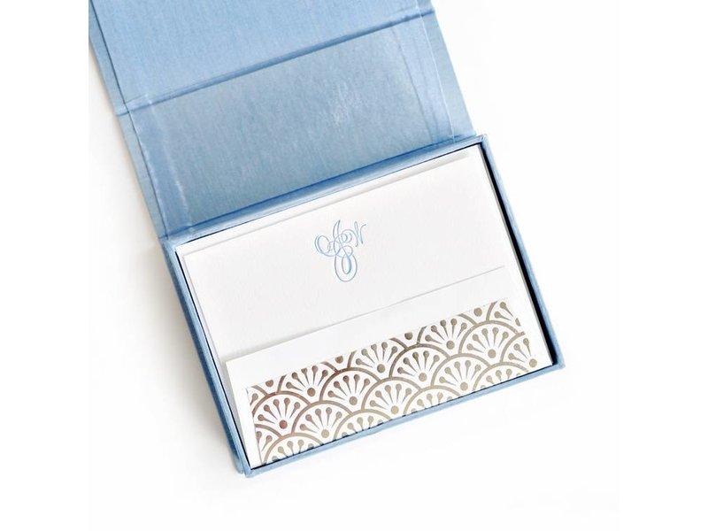 Haute Papier Petite Light Blue Stationery Box