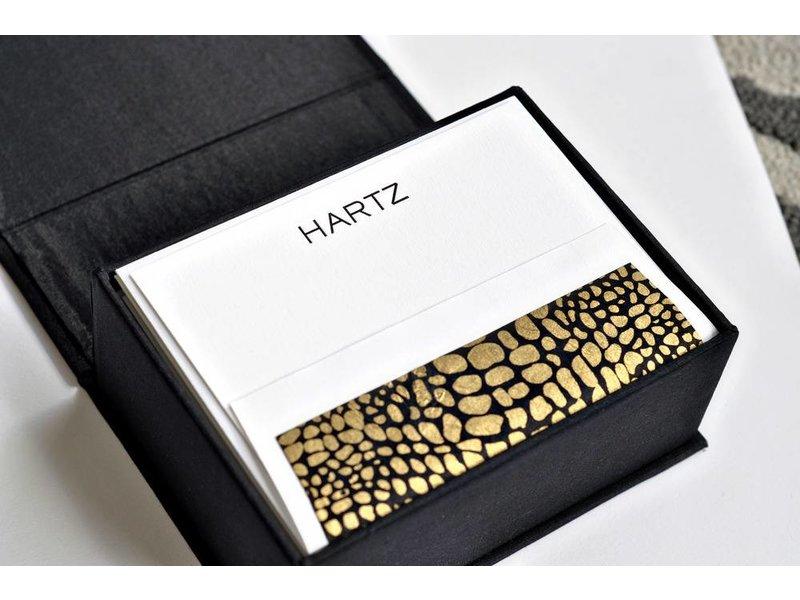Haute Papier Petite Black Stationery Box