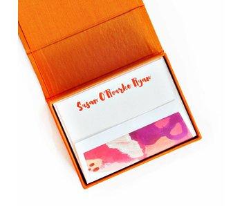 Petite Orange Stationery Box