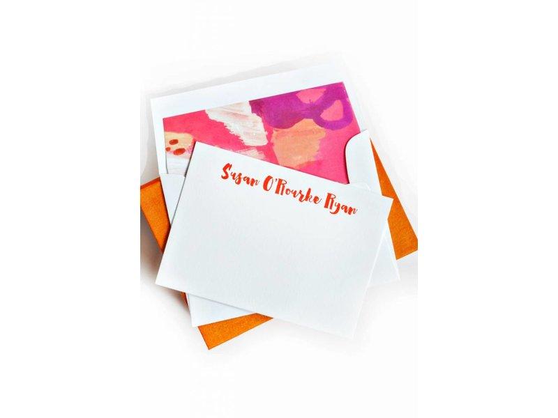 Haute Papier Petite Orange Stationery Box