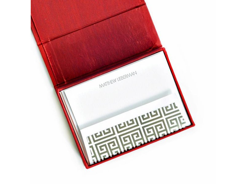 Haute Papier Petite Red Stationery Box