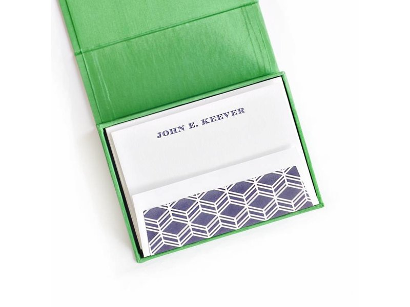 Haute Papier Petite Green Stationery Box